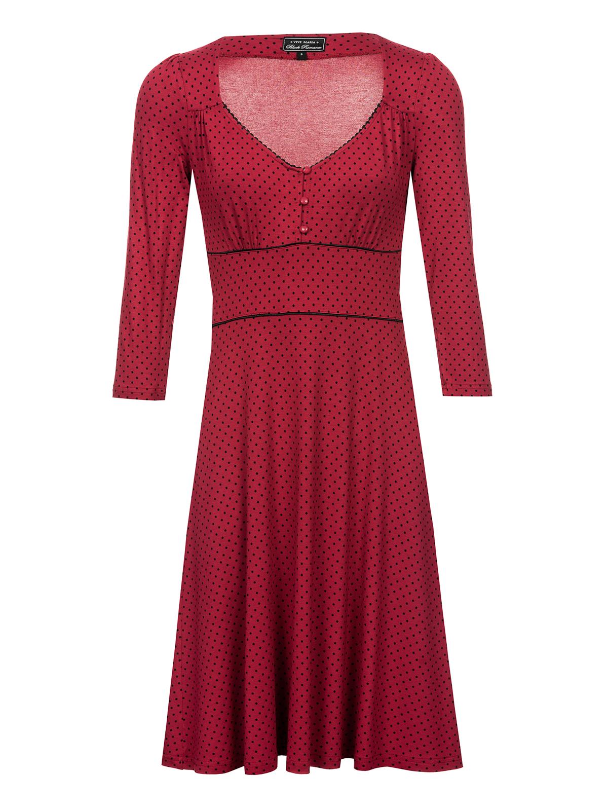 813d7cdb1b12 Vive Maria American Beauty 3/4-Arm Kleid rot
