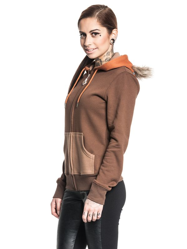 Star Wars Ewok Zip-Hooded Jacket female brown – Bild 3