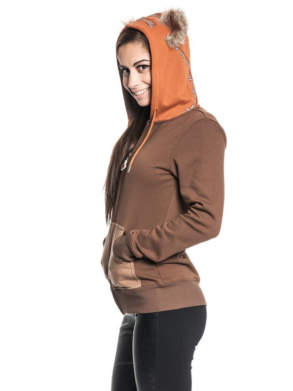 Star Wars Ewok Zip-Hooded Jacket female brown – Bild 6