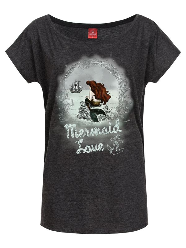Disney Arielle Waiting For You Girl Shirt grey-melange – Bild 0