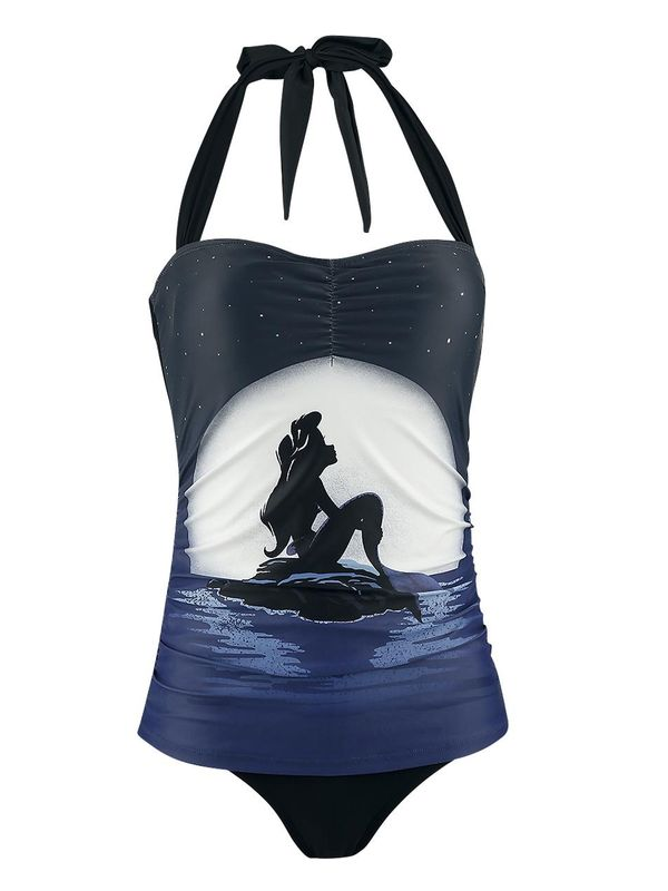 Disney Ariel The Little Mermaid Moonshine Swimsuit for Women Black Allover view