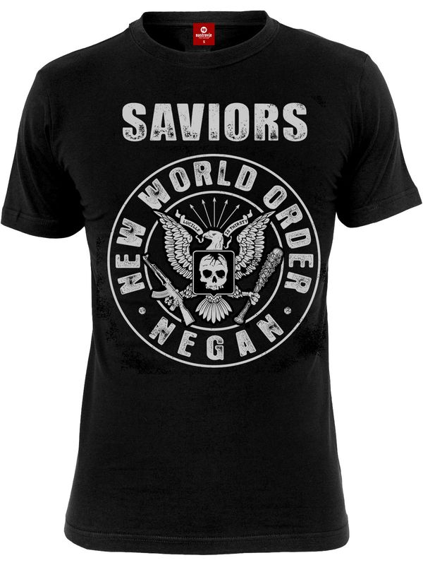 The Walking Dead Saviors New World Order Männer T-Shirt schwarz – Bild 1