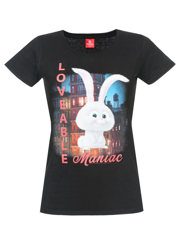 The Secret Life of Pets Loveable Maniac Girl Shirt black – Bild 0