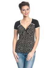 Pussy Deluxe Lovely Heart Loop Shirt black – Bild 1