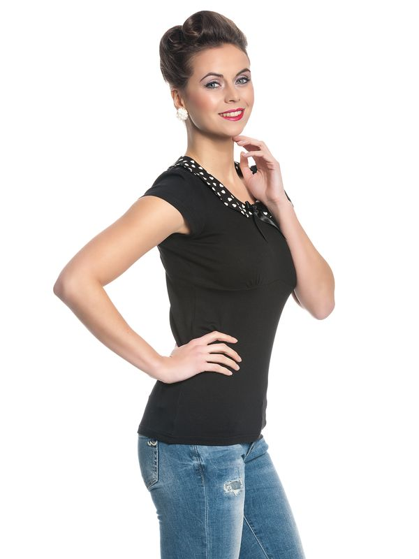 Pussy Deluxe Lovely Collar Shirt schwarz – Bild 3