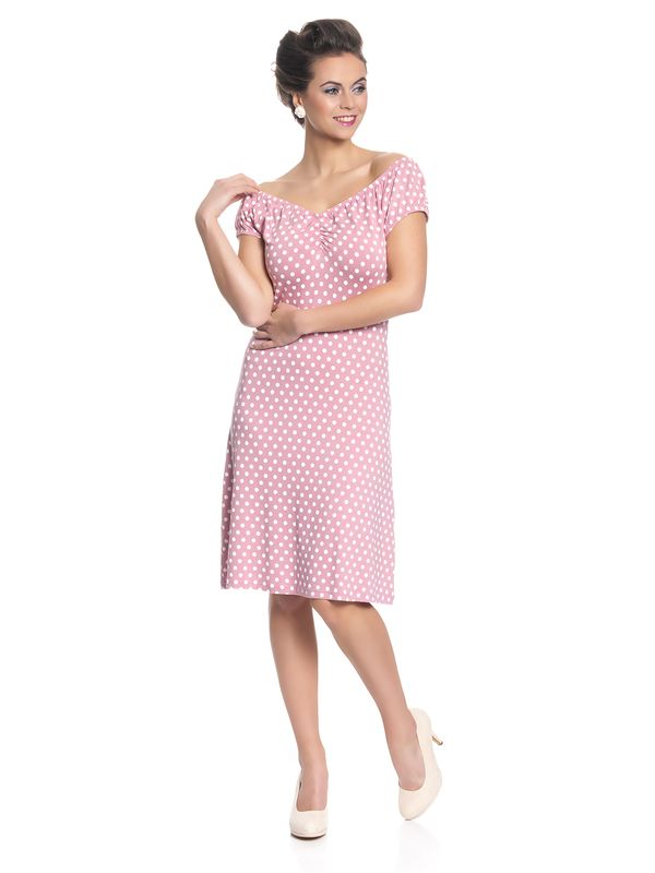Pussy Deluxe Dotties Romantic Dress Kleid hellpink – Bild 1
