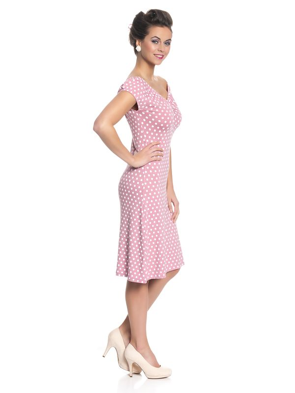 Pussy Deluxe Dotties Romantic Dress Kleid hellpink – Bild 3