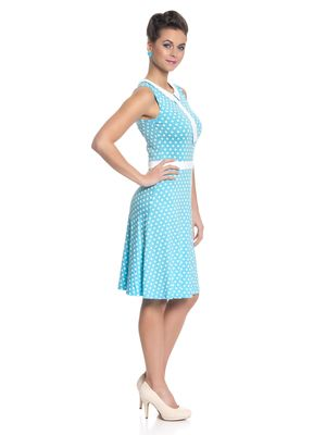 Pussy Deluxe Candy Love Collar Dress Kleid hellblau – Bild 2