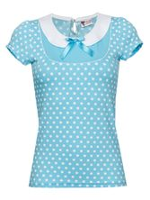 Pussy Deluxe Candy Love Collar Shirt hellblau – Bild 0