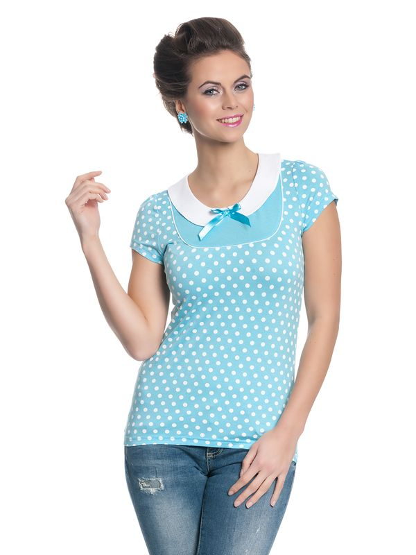 Pussy Deluxe Candy Love Collar Shirt hellblau – Bild 1