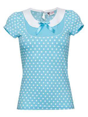 Pussy Deluxe Candy Love Collar Shirt hellblau – Bild 0