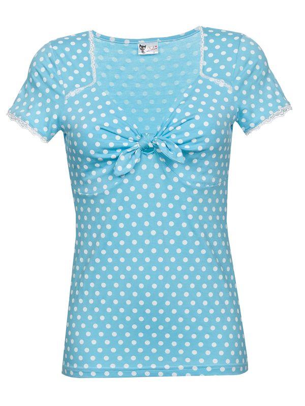 Pussy Deluxe Candy Love Loop Shirt hellblau – Bild 1