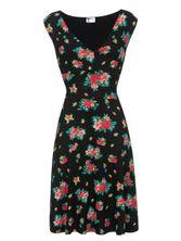 Pussy Deluxe Hawaii Chic Dress Kleid schwarz Allover-Print – Bild 0