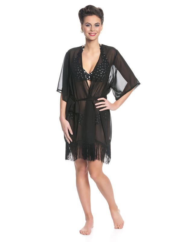 Pussy Deluxe Lovely Chic Fringes Cardigan schwarz – Bild 1