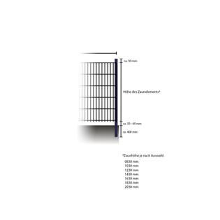 Doppelstabmattenzaun - Eckpfosten grün 1700 mm – Bild 4