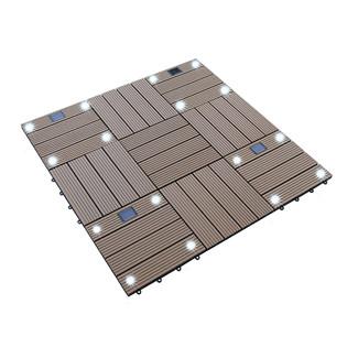 WPC Holzfliesen Teak mit LEDs - 2x Stück – Bild 4