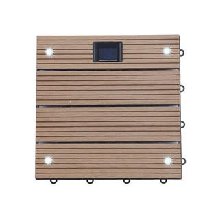 WPC Holzfliesen Teak mit LEDs - 14x Stück