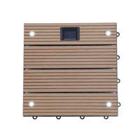 WPC Holzfliesen Teak mit LEDs - 22x Stück 001