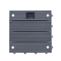 WPC Holzfliesen Anthrazit mit LEDs - 10x Stück