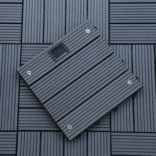 WPC Holzfliesen Anthrazit mit LEDs - 16x Stück – Bild 3