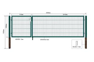 Doppelflügel Gartentor V2 - Alle Varianten – Bild 15