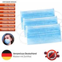 Mundschutz-Maske (3-lagig) Einweg ab 10 Stück MNS Atemschutz - alle Varianten 001