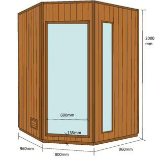 Traditionelle Sauna Relax XL – Bild 9