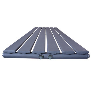 Design Heizkörper Flare doppellagig anthrazit 1800 x 480 x 65 (6 Paneele) – Bild 3