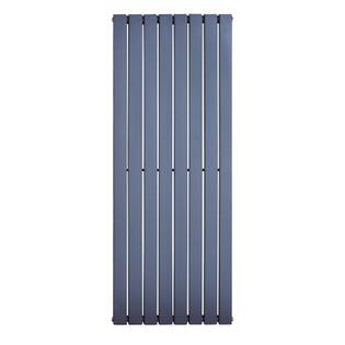 Design Heizkörper Flare doppellagig anthrazit 1800 x 640 x 65 (8 Paneele) – Bild 2