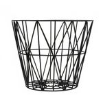 Korb schwarz M Wire Basket Black Medium 001