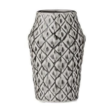 Vase quadratische Struktur grau-braun