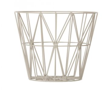 Korb grau M Wire Basket grey Medium