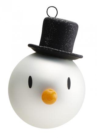 Hoptimist Schneemann Weihnachtsbaumkugeln 2er Set Snowman Christmas Ornaments 2 pcs