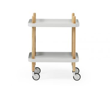 Block Table Tisch hellgrau Light Grey