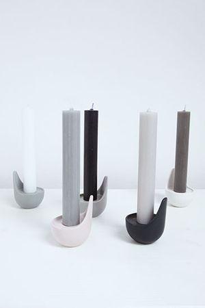 KAARS Kerzenständer mattes weiß Keramik – Bild 5