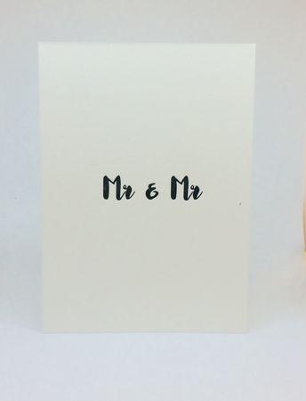 Mr & Mr Handgedr. Unikat-Karte
