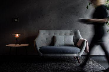 VITA Shade Felt Lampenschirm grau weiß Filz – Bild 10