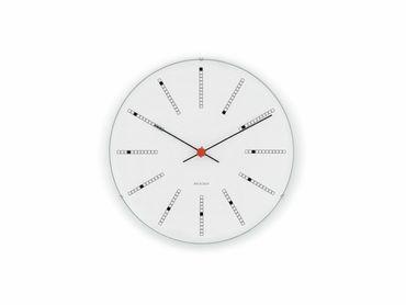 Arne Jacobsen Bankers Wanduhr weiß D = 29 cm – Bild 1