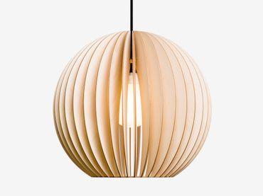 AION L Lampe Natur mit schwarzem textil Kabel – Bild 2
