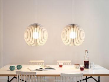 AION L Lampe weiß mit weißem textil Kabel – Bild 3