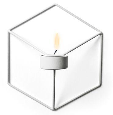 POV Wand-Teelichthalter weiß