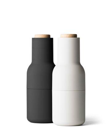 Bottle Grinder Salz- und Pfeffermühlen Ash/Carbon Holzdeckel – Bild 1
