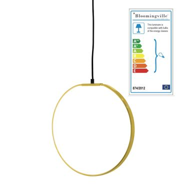 Pendant Lampe Goldfarben Finish Metall Ring – Bild 1