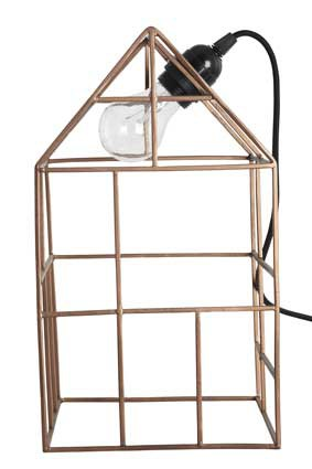 Deko Haus Kupfer Light house Copper