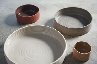 Kaas + Heger Low Bowl L Porzellan naturweiße Schale flach L