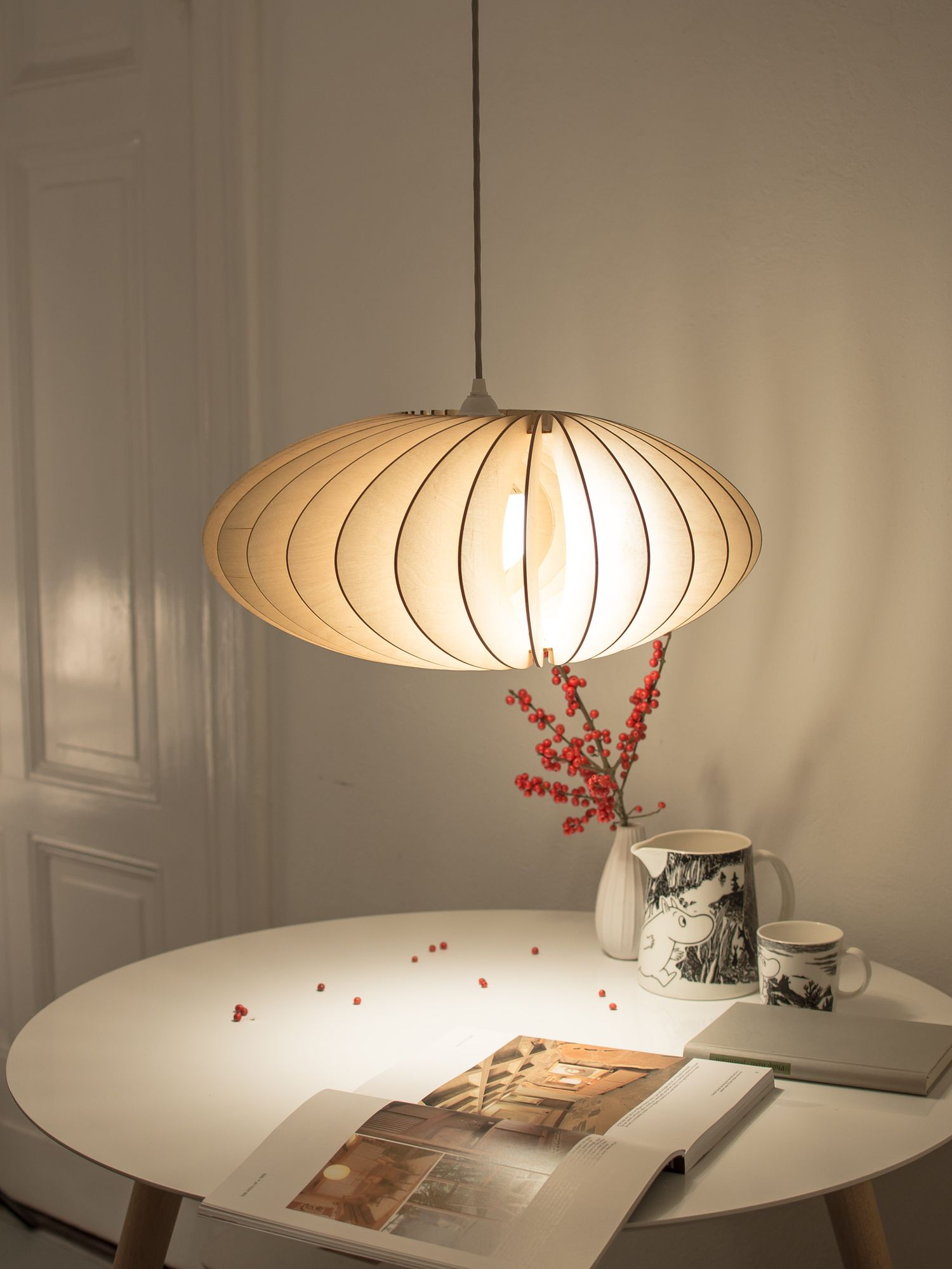 Nefi Lampe Natur Mit Weissem Textil Kabel Wohnen Leuchten Und Lampen
