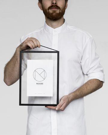 Rahmen A4 Alu schwarz - durchgehend transparent – Bild 1