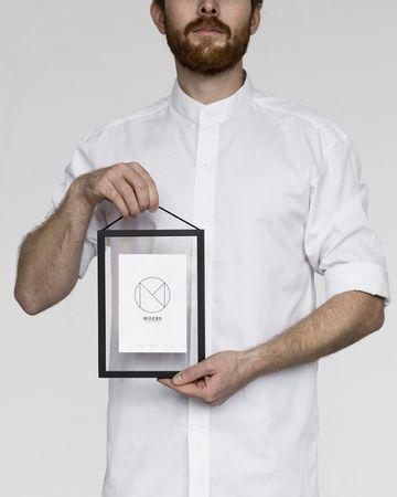 Rahmen A5 Alu schwarz - durchgehend transparent
