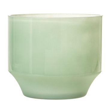 Blumentopf Glas grün