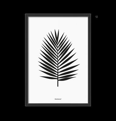 Druck A3 Palmblatt schwarz